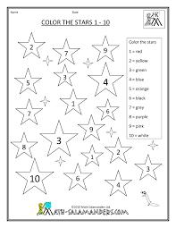 coloring pages kindergarten color by number worksheet kid
