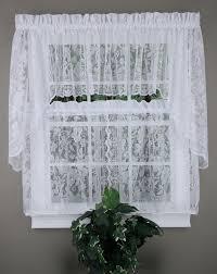 windsor lace curtains natural united jabot u0026 swag kitchen