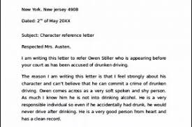 character reference letter for court child custody templatezet