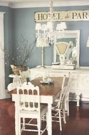 Set Of  Light Blue Shabby Chic Ladder Back Chairs Tall Ladder - Shabby chic dining room furniture