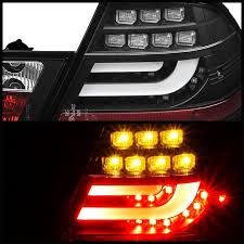 2004 bmw 330i tail lights spyder black lightbar style led tail lights for 2000 2003 bmw 325i