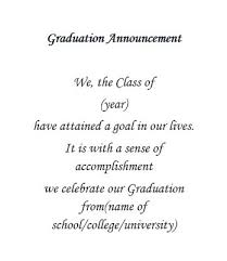 graduation announcements wording graduation free suggested wording by theme geographics
