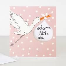 baby girl cards lunette baby girl card stalk welcome one caroline gardner