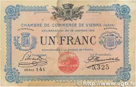 chambre de commerce de vienne 1 franc regionalism and miscellaneous vienne 1916 jp 128 12