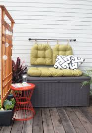 Small Balcony Furniture by Make The Most Of Any Small Outdoor Space With A Cozy Storage Bench
