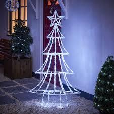 wilko acrylic led light up tree large at wilko