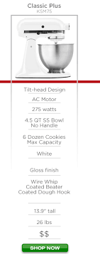kitchenaid mixer comparison table chef s review choosing the best kitchenaid mixer for you