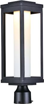 modern black light fixtures maxim 55900swbk salon led modern black led outdoor post light