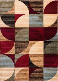 Multi Color Rug Mid Century Modern Multicolor Geometric Modern Area Rug Easy To