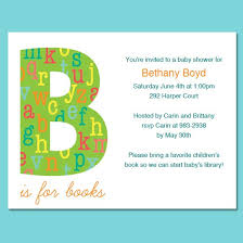 book themed baby shower invitations template best template