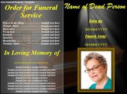 funeral programs free 6 free funeral program templates excel pdf formats