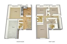 Floor Plan Two Storey House Modren 3d 2 Story Floor Plans Images About House On Pinterest