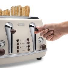 Green Kettles And Toasters De U0027longhi Ctov4003 Az Vintage Icona Anita 4 Slice Toaster Azure