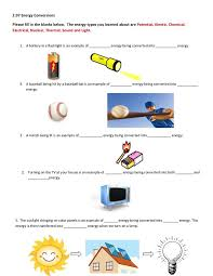 student exploration energy conversions answer sheet answers 100