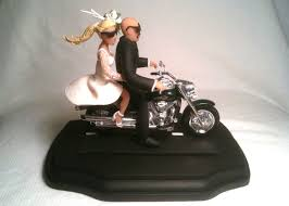 motorcycle wedding cake toppers wedding cake topper bald groom motorcycle 195 00 caketopcreations