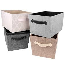 Storage Bins For Shelves by Amazon Com Creative Scents Fabric Decorative Storage Basket Gray