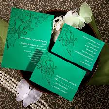 green wedding invitations online cheap orchid green wedding invite ewi076 as low as 0 94