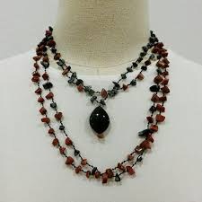 necklace red stone images Red stone necklace yompai jpg