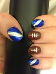 nail art dallas cowboys nails design or any blue and white
