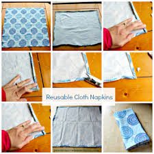 easy upcycled and repurposed napkins tutorial practical stewardship