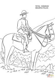 royal canadian mounted police coloring page free printable