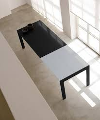 pedrali tma matrix extendable table with steel frame and glass top