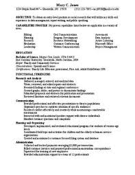 Resume Researcher Social Research Functional Resume By East Carolina University