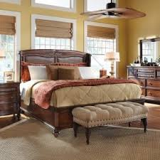 charming brown wooden master bedroom furnishings set feat high