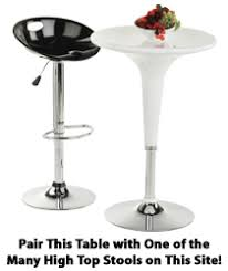 Modern Bistro Table Modern Bistro Table Gloss White Round Tabletop Height Adjustable