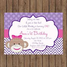 monkey invitations baby shower purple sock monkey invitation purple sock monkey birthday