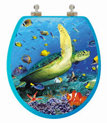 Cushioned Toilet Seats Sea Turtle 3d Image Toilet Seat Round Potty Training Concepts