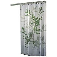 Rainforest Shower Curtain - interdesign leaves fabric shower curtain 183 x 183 cm green