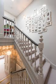 Stairs Hallway Ideas by Farrow And Ball Pavilion Gray Hallway Spindle And Handrail