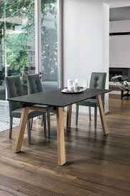 contemporary dining table glass metal tempered glass giove
