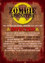 image result for zombie apocalypse party invitations zombie