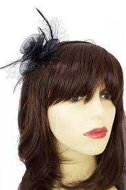 small fascinators for hair small black crinoline flower netting fascinator black fascinators