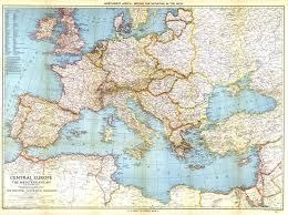Geographic Map Of Europe by Hyperwar Europe