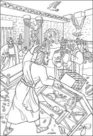temple coloring page cleansing the temple coloring page