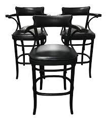 restoration hardware vienna cafe barstools set of 3 chairish