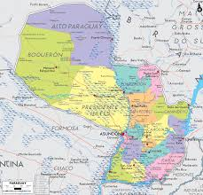 Political Map Of South America by Map Of Paraguay South America