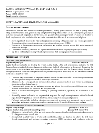 Work In Texas Resume Download Health Safety Environmental Manager In Houston Tx Resume