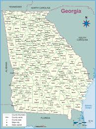 Georgia Counties Map Georgia County Outline Wall Map Maps Com