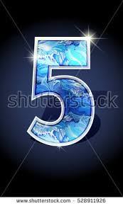 blue winter number five on stock vector 528911926