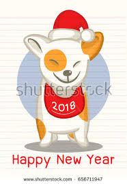 2018 happy new year greeting card stock vector 656711947