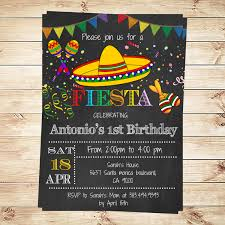 Reunion Invitation Cards Birthday Mexican Fiesta Party Invitations Printable