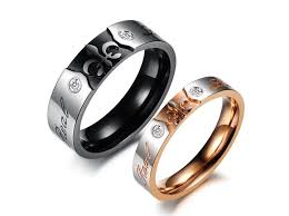 promise ring sets for him and him style matching ring set promise ring