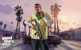 hd franklin clinton with a gun in grand theft auto v wallpaper