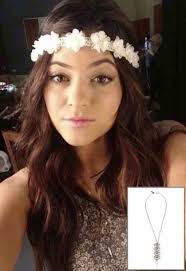 white flower headband hat white flowers headband jenner wheretoget