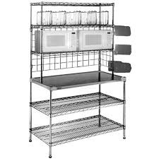 furniture awesome stainless steel prep table with hutch and