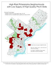Upenn Map Improving The Evidence Base For Access To Quality Pre K Penniur